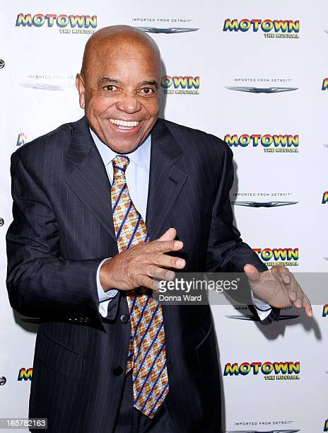 Berry Gordy attends Motown The Musical Motown Family Night at LuntFontanne Theatre on April 5 2013 in New York City