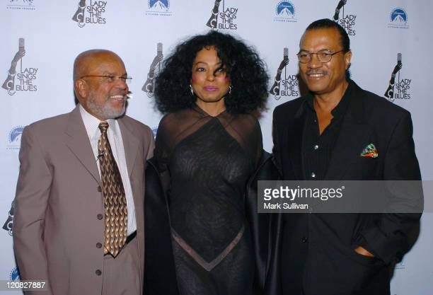 Berry Gordy Diana Ross and Billy Dee Williams during Lady Sings the Blues DVD Release Screening Arrivals at Paramount Theatre in Hollywood California...