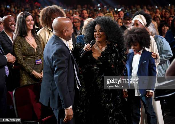 Berry Gordy Diana Ross and RaifHenok Emmanuel Kendrick attend Motown 60 A GRAMMY Celebration at Microsoft Theater on February 12 2019 in Los Angeles...