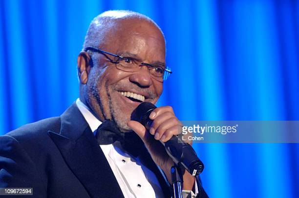 Berry Gordy during 2007 Clive Davis PreGRAMMY Awards Party Show at Beverly Hills Hilton in Beverly Hills California United States