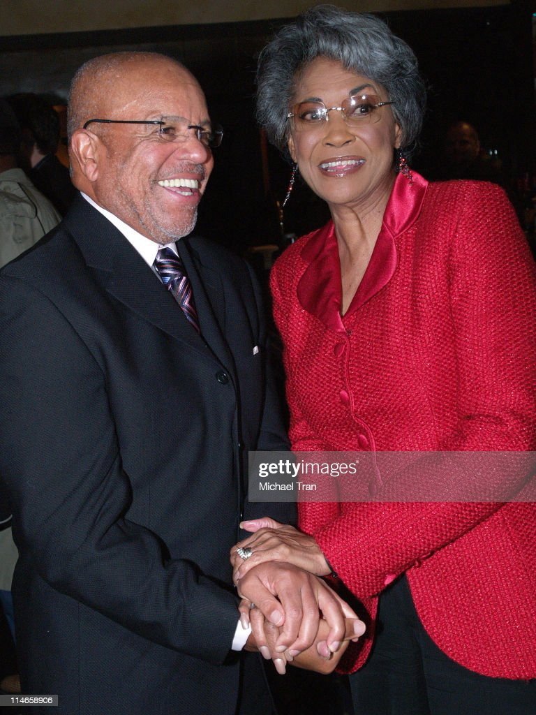 Berry Gordy, founder of Motown Records, and Nancy Wilson