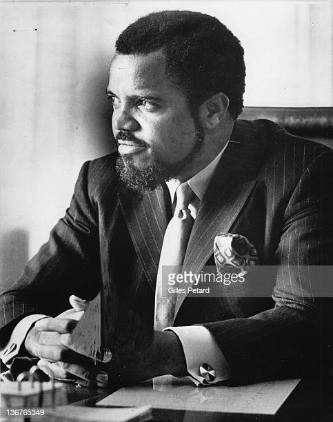 Berry Gordy Jr portrait in office at Motown USA January 17 1971