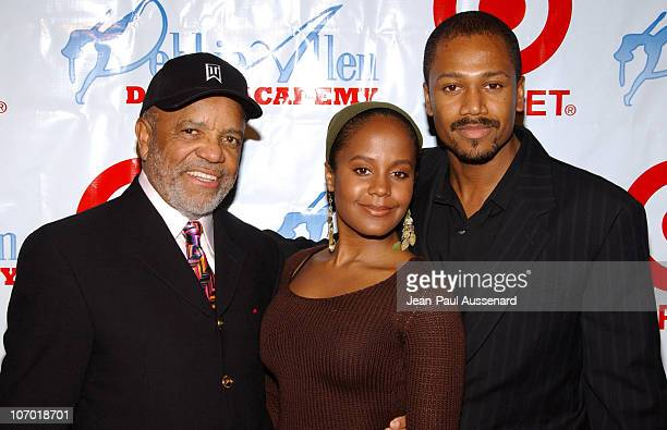 Berry Gordy with daughter and son during World Premiere of Debbie Allen's The Bayou Legend at Kaufman Hall at UCLA in Westwood California United...