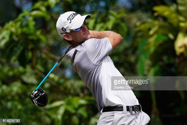 Berry Henson of the United States in action during day four of the Maybank Championship Malaysia at Saujana Golf and Country Club on February 4 2018...