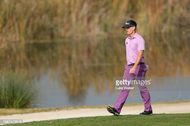 Berry Henson of The USA walks onto the 4th green during Day Five of the European Tour Qualifying School Final Stage at Lumine Golf Club on November...