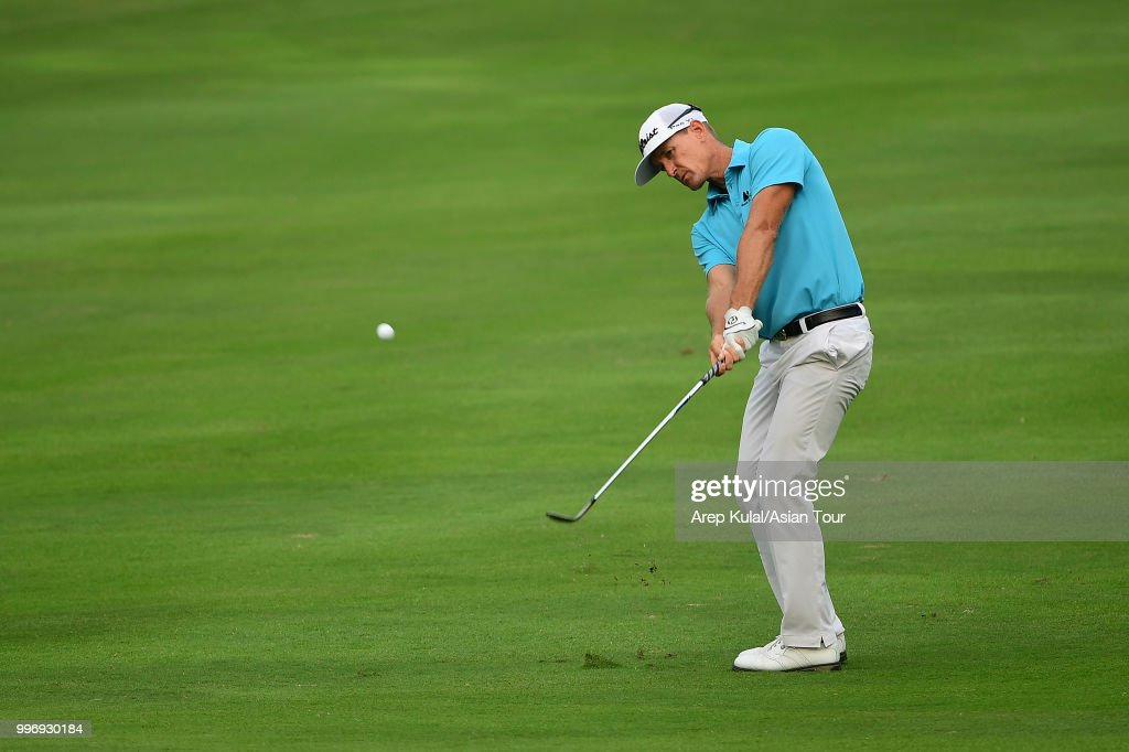 Berry Henson of USA pictured during the first round of the Bank BRI Indonesia Open at Pondok Indah Golf Course on July 12, 2018 in Jakarta, Indonesia.