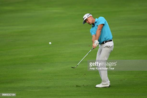 Berry Henson of USA pictured during the first round of the Bank BRI Indonesia Open at Pondok Indah Golf Course on July 12 2018 in Jakarta Indonesia
