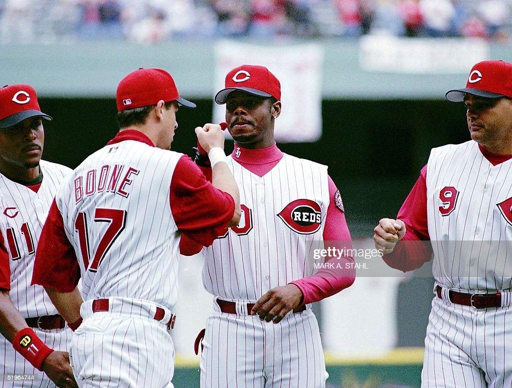 Berry Larkin, Aaron Boone, Ken Griffey Jr and Dante Bichette.