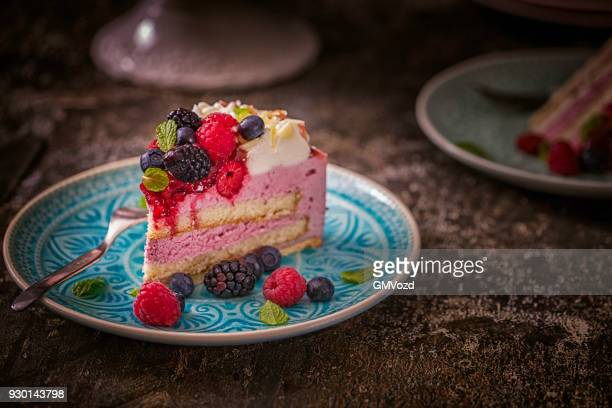 Berry Layer Cake with Whipped Cream