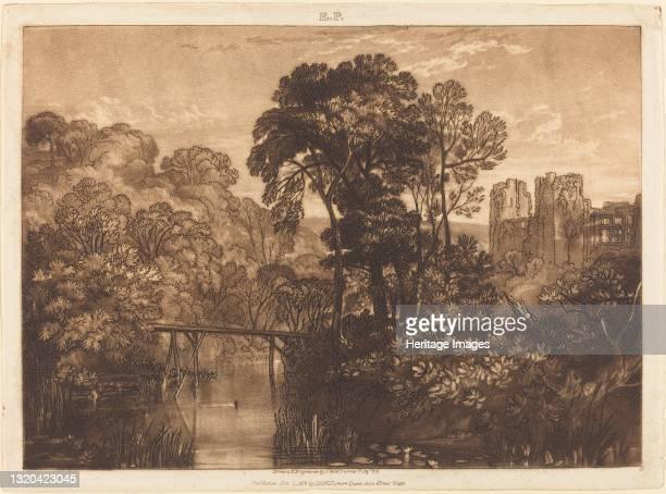 Berry Pomeroy Castle, published 1816. Artist JMW Turner.