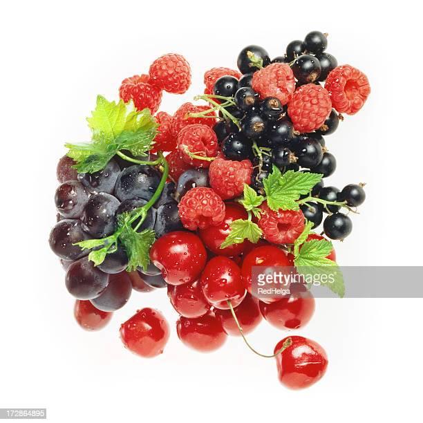 Baie rouge et de raisin