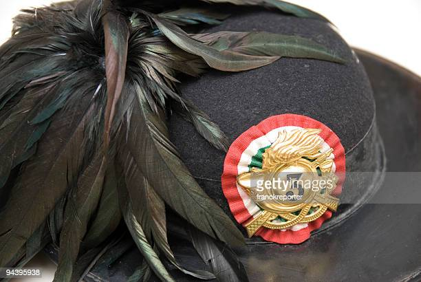 bersaglieri's hat - italian military stock pictures, royalty-free photos & images