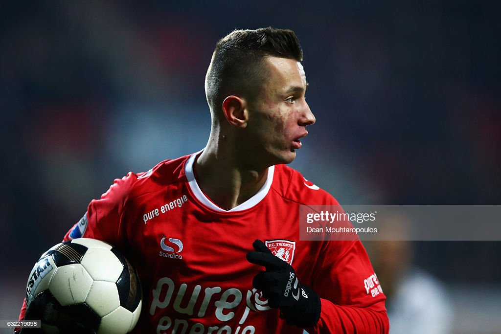Bersant Celina of FC Twente in action during the Dutch Eredivisie match between FC Twente and Heracles Almelo held at De Grolsch Veste on January 20, 2017 in Enschede, Netherlands.