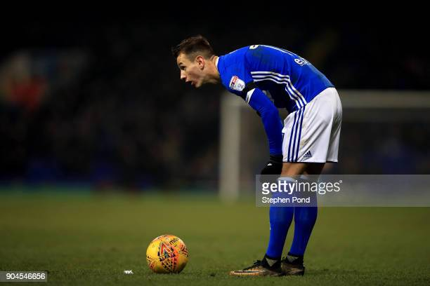 Bersant Celina of Ipswich Town during the Sky Bet Championship match between Ipswich Town and Leeds United at Portman Road on January 13 2018 in...