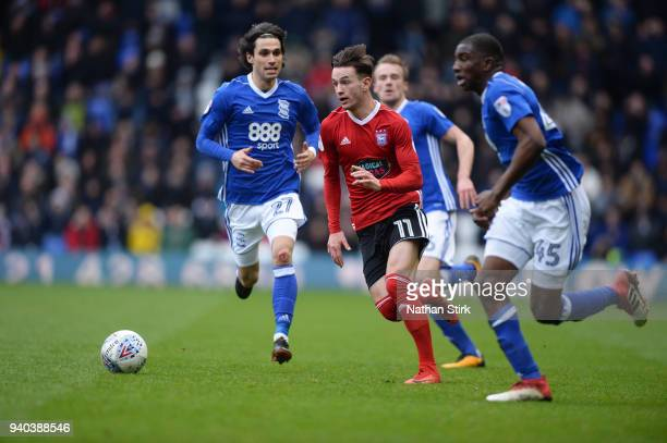 Bersant Celina of Ipswich Town in action during the Sky Bet Championship match between Birmingham City and Ipswich Town at St Andrews on March 31...