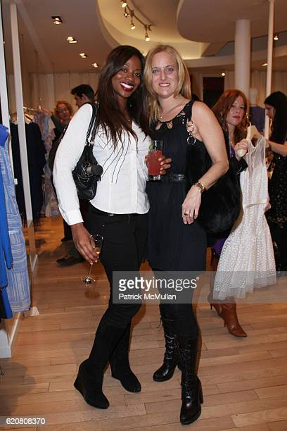 Bershan Shaw and Alison Hessert attend TRACY REESE Secret Garden Party at Tracy Reese Boutique on March 27 2008 in New York City