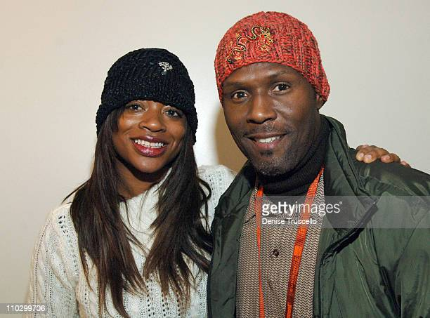 Bershan Shaw and Curtis Cook at Zola Hats during 2007 Park City Luxury Lounge Day 3 at Media Placement Luxury Lounge in Utah United States