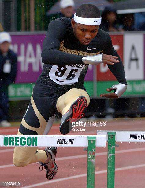 Bershawn Jackson won the 400meter intermediate hurdles in 4822 in the Prefontaine Classic at the University of Oregon's Hayward Field in Eugene Ore...