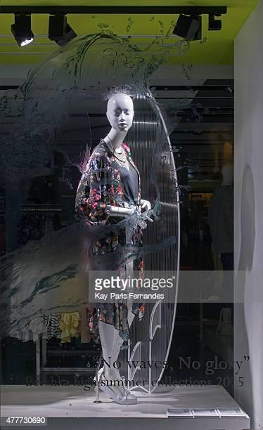 Bershka Paris Windows Display 2015 as Part of the World Fashion Window Displays on April 14 2015 in Paris France