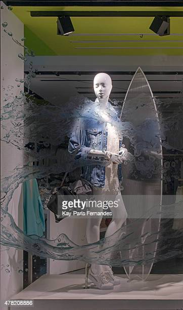 Bershka Paris Windows Display 2015 as Part of the World Fashion Window Displays on May 11 2015 in Paris France