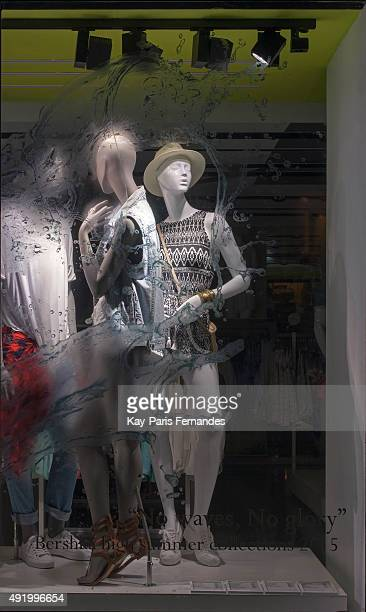 Bershka Paris Windows Display 2015 as Part of the World Fashion Window Displays on June 11 2015 in Paris France