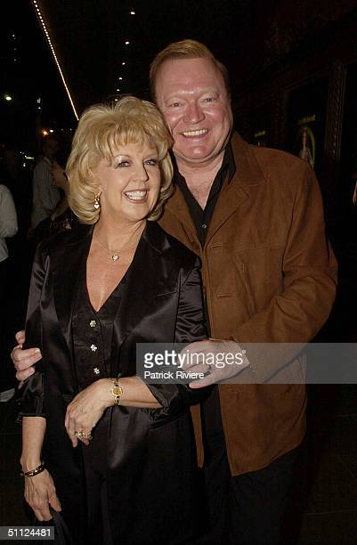 Bert and Patti Newton at the opening night of the rock musical 'Hair' at the Capitol Theatre in Sydney