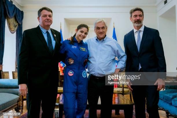 Bert Carson Alyssa's father Alyssa Carson aspiring astronaut President of Chile Sebastián Piñera and Estaban Rodríguez President of Accenture Chile...
