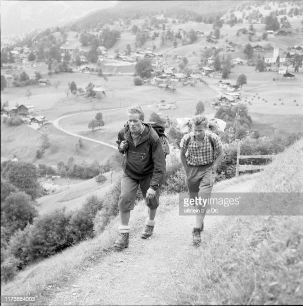 Bert Grosz and Wolfgang Axt are going to ascent the Eiger North Face 1958