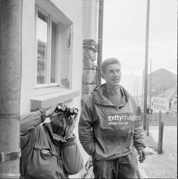 Bert Grosz and Wolfgang Axt are going to ascent the Eiger North Face 1958 Bert Grosz and Wolfgang Axt are going to ascent the Eiger North Face 1958