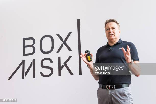 Bert Hoyt VP/GM Nike EMEA presents the opening of Box MSK at Gorky Park on June 12 2018 in Moscow Russia Brazil football icon Ronaldo and Russia...