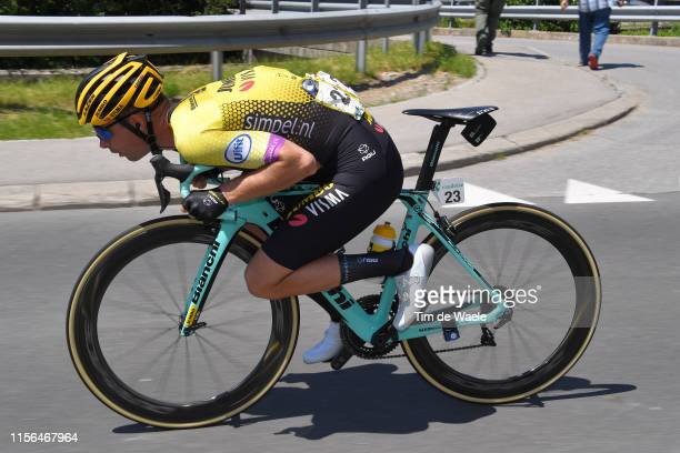 Bert Jan Lindeman of The Netherlands and Team Jumbo - Visma / during the 83rd Tour of Switzerland, Stage 3 a 162,3km stage from Flamatt to Murten...