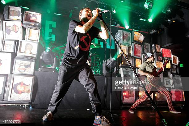 Bert McCracken of The Used performs at Iron City on May 4 2015 in Birmingham Alabama
