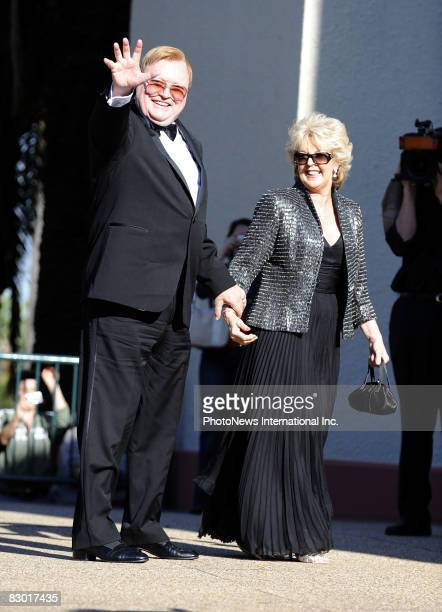 Bert Newton and Patti Newton arrive for the wedding of 2Day FM radio presenter Kyle Sandilands and aspiring pop star Tamara Jaber at St Brigids...