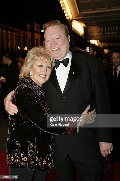 Bert Newton and Patti Newton arrives at the opening night of the new stage production of Andrew Lloyd Webber's 'Phantom of the Opera' at the Princess...