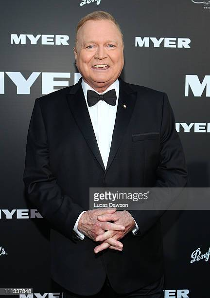Bert Newton arrives to celebrate Myer Bourke Street reopening and 100th birthday on March 31 2011 in Melbourne Australia