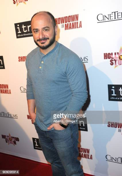 Bert Rotundo arrives for the Premiere Of ITN Distribution's Showdown In Manila held at Laemmle's Ahrya Fine Arts Theatre on January 22 2018 in...