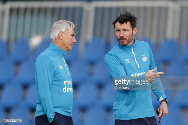 Bert van Marwijk of PSV Coach Mark van Bommel of PSV during the training camp of PSV Eindhoven at the Aspire Academy on January 10 2019 in Doha Qatar