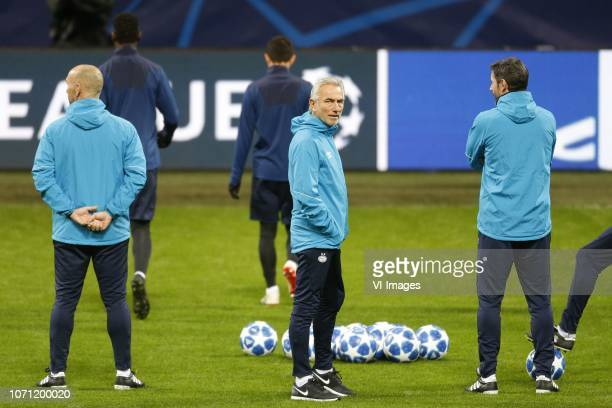 Bert van Marwijk of PSV during a training session prior to the UEFA Champions League group B match between Internazionale Milan and PSV Eindhoven at...