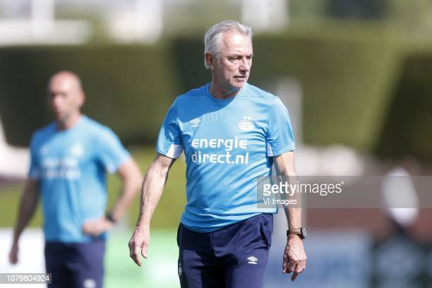 Bert van Marwijk of PSV during the training camp of PSV Eindhoven at the Aspire Academy on January 09 2019 in Doha Qatar