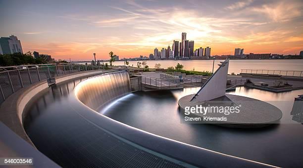 Bert Weeks Fountain Overlooking Detroit