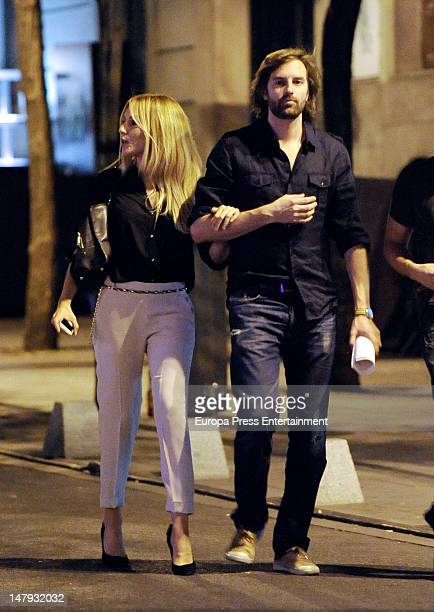 Berta Collado and boyfriend are seen on July 5 2012 in Madrid Spain