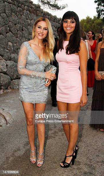 Berta Collado and Cristina Pedroche attend the wedding of Patricia Conde and Carlos Segui in Granja de Esporles on June 30 2012 in Mallorca Spain