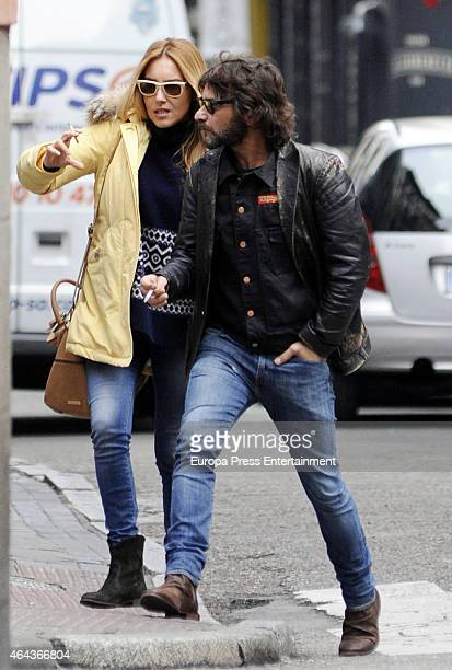 Berta Collado and Quique Gonzalez are seen on January 21 2015 in Madrid Spain