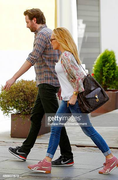 Berta Collado and Ramon Cisneros are seen on April 24 2014 in Madrid Spain