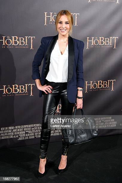 "Berta Collado attends the ""The Hobbit: An Unexpected Journey"" premiere at the Callao cinema on December 12, 2012 in Madrid, Spain."