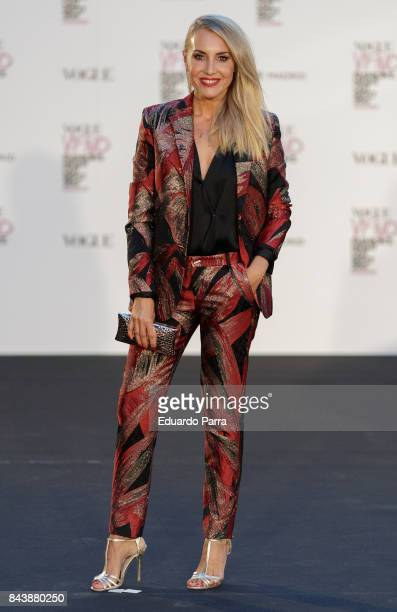 Berta Collado attends the 'Vogue fashion's Night Out' photocall at Ortega y Gasset street on September 7 2017 in Madrid Spain