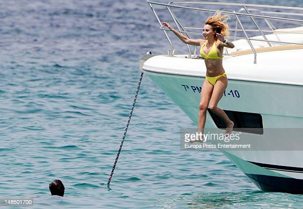 Berta Collado is seen on July 17 2012 in Ibiza Spain