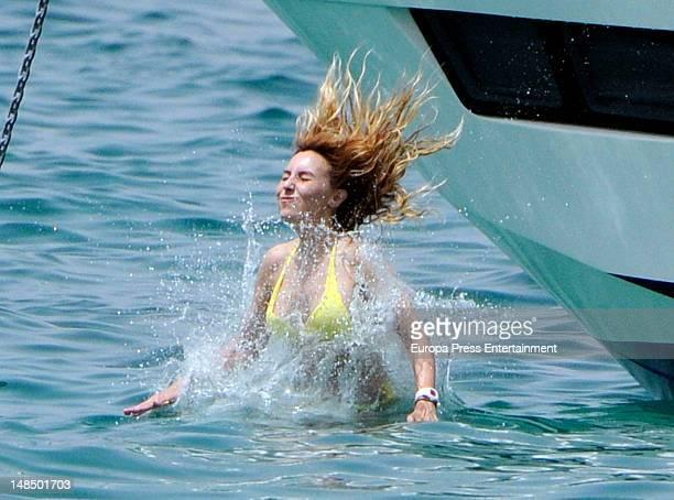 Berta Collado is seen on July 17 2012 in Ibiza Spain