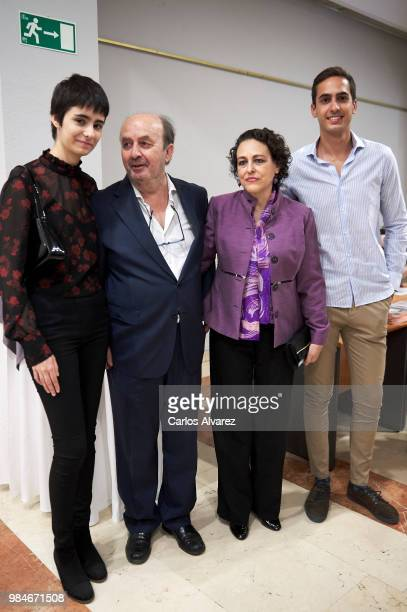 Berta Diaz Garcia Lorenzo Diaz Spanish minister of labour Magdalena Valerio and Lorenzo Diaz Garcia attend the Concha Garcia Campoy awards 2018 on...