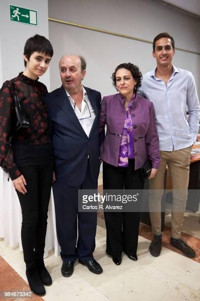 Berta Diaz Garcia, Lorenzo Diaz, Spanish minister of labour Magdalena Valerio and Lorenzo Diaz Garcia attend the Concha Garcia Campoy awards 2018 on...